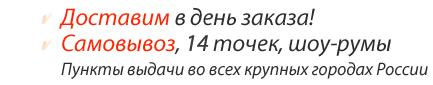 Доставка в день заказа, пункты выдачи во всех крупных городах России